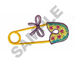 BABY PIN embroidery design