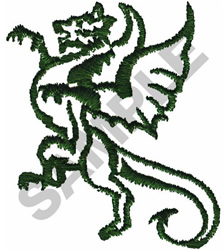 DRAGON OUTLINE embroidery design