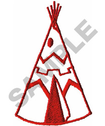 TEEPEE embroidery design