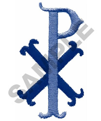 CHI RHO (CHRIST) embroidery design