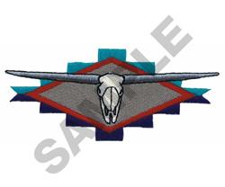LONGHORN SKULL DESIGN embroidery design