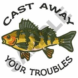Cast Away Your Troubles embroidery design