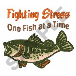 Fighting Stress Sea Bass embroidery design