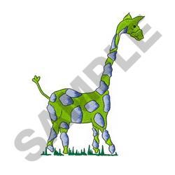 Green & Blue Giraffe embroidery design