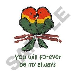 Forever Lovebirds embroidery design