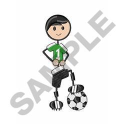 Soccer Stick Boy embroidery design