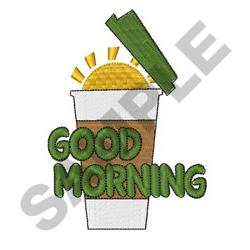 Good Morning Coffee embroidery design