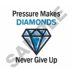 Pressure Makes Diamonds embroidery design