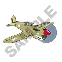 P Forty Warhawk embroidery design