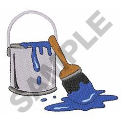 Paintbrush And Bucket embroidery design