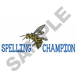 Spelling Bee Champ embroidery design