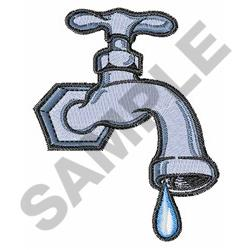 Dripping Faucet embroidery design