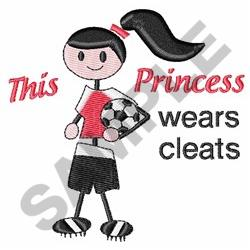 Princess Wears Cleats embroidery design
