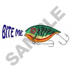 Bite Me Lure embroidery design