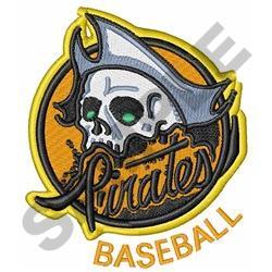 Pirates Baseball embroidery design