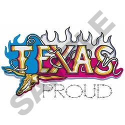 Texas Proud embroidery design