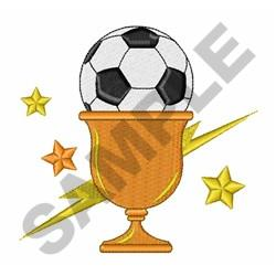 Soccer Trophy embroidery design