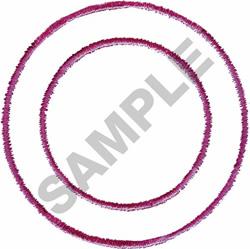 BORDER CIRCLE #004 embroidery design