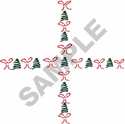 """TREE & BOW """"T"""" BORDER embroidery design"""