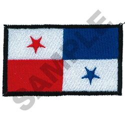 PANAMA FLAG embroidery design