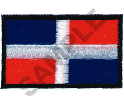 DOMINICAN FLAG embroidery design