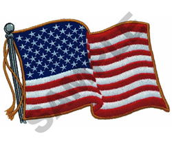 AMERICAN FLAG embroidery design