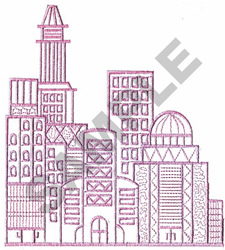 CITY SKYLINE embroidery design