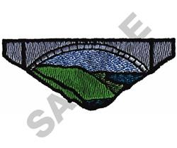 BRIDGE SCENE embroidery design