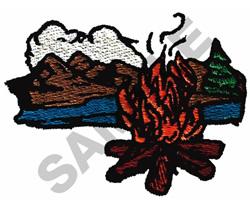 CAMPFIRE SCENE embroidery design