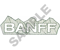 BANFF WITH MOUNTAINS embroidery design