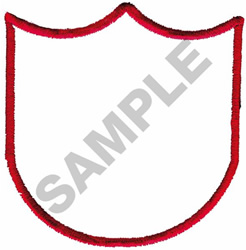 SHIELD BORDER embroidery design