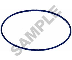 OVAL BORDER embroidery design