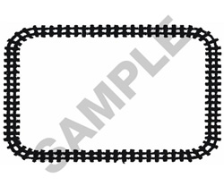 TRAIN TRACKS BORDER embroidery design