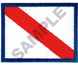 DIVE FLAG embroidery design