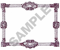 PICTURE FRAME BORDER embroidery design