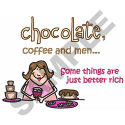 CHOCOLATE... embroidery design