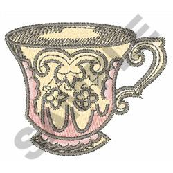 ANTIQUE COFFEE CUP embroidery design