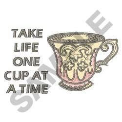 ONE CUP embroidery design
