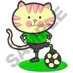SOCCER CAT embroidery design
