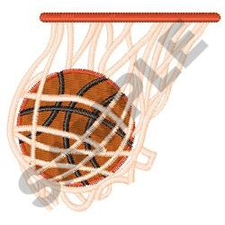 BASKETBALL IN NET embroidery design