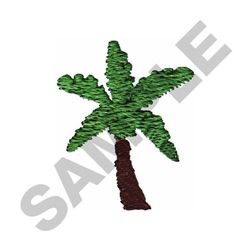 PALM TREE #042 embroidery design