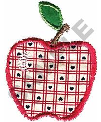 APPLE HEARTS APPLIQUE embroidery design