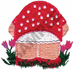 GARDEN SCENE embroidery design