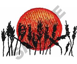 WHEAT IN THE SUN embroidery design