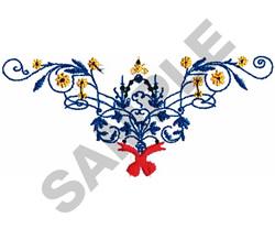 FLORAL BORDER #098 embroidery design