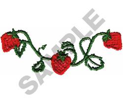 STRAWBERRY VINE BORDER embroidery design