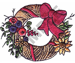 FLORAL WREATH #107 embroidery design
