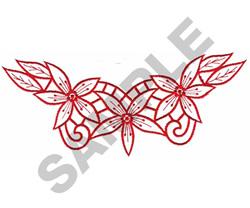 FLORAL BORDER #135 embroidery design