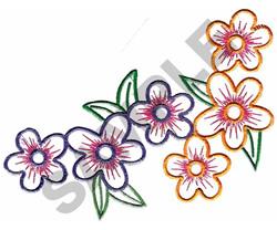 FLORAL BORDER #141 embroidery design
