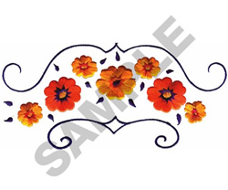 FLORAL BORDER #159 embroidery design